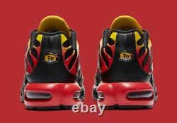 Nike Air Max Plus Running Shoes Black Chile Red CZ9270-001 Men's NEW