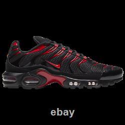 Nike Air Max Plus Shoes Black University Red CU4864-001 Men's Multi Size NEW