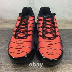 Nike Air Max Plus TN Tuned Shoes Black/Red/Grey DC1936-001 Men's Size 13