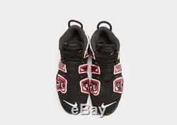 Nike Air More Uptempo 96 Black-Red Junior Unisex Trainers Limited Stock