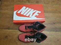 Nike Dunk High Gym Red Size 12 suede bred 2019 STYLE 904233-600 red black