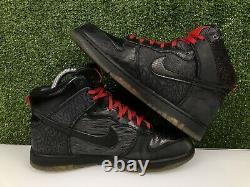 Nike Dunk High Sb Premium QS Mighty Crown 20th Anniversary Black Red 503766-001