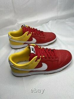 Nike Dunk Low Red White Yellow Mens Size 12 No Box