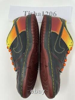 Nike Dunk Low SB NYX Black Orange Blaze Red Men Size 8 Rare