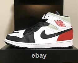 Nike Jordan 1 Mid SE Union Black Toe Men Size 10 852542-100 AJ1 Black Red White