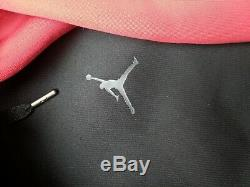 Nike Jordan Flight Tech Diamond Pullover Men's Size Medium AA1488-010 Black Red