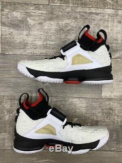 Nike LeBron 15 XV Diamond Turf Prime Deion Sanders White Black Red 11 AO9144-100