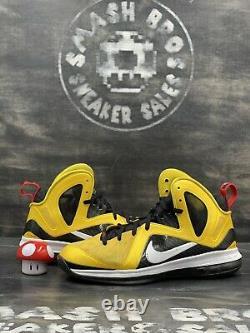 Nike LeBron 9 P. S. Elite Taxi 2012 Size 12 516958-700 Yellow Black White Red OG
