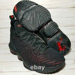 Nike LeBron James 16 XVI Fresh Bred Black Red Flyknit OG 2018 AO2588-002 Size 11