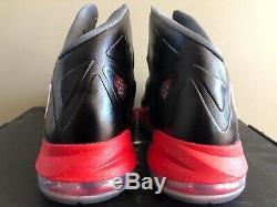 Nike Lebron 10 X Pressure Black Red 598360 001 Size 11