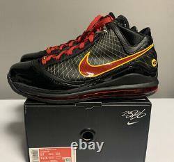 Nike Lebron VII 7 Fairfax Away 2020 Mens Size CU5646-001 Black Red Gold