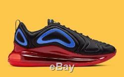Nike Mens Air Max 720 Black Red Blue Size 8.5 Uk 43 Eu (AO2924-014)