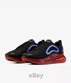 Nike Mens Air Max 720 Black Red Blue Size 9 Uk 44 Eu (AO2924-014)