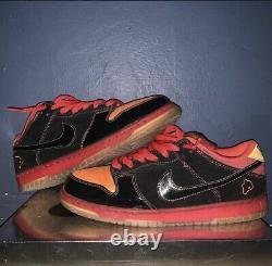 Nike SB Dunk Low Premium Size 10.5 Hawaii Black Red Orange Yellow 313170-003