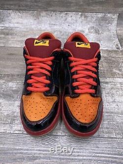 Nike SB Dunk Low Premium Size 10 Hawaii Black Red Orange Yellow Rare 313170-003