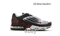 Nike Tuned 3 Black-Red-White Men's Trainers Limited Stock All Sizes