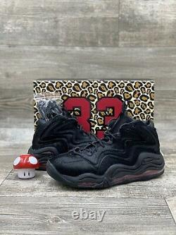 Nike X Kith Retro Air Pippen Uptempo 1 97 97 Black Red Animal ah1070-001 size 9