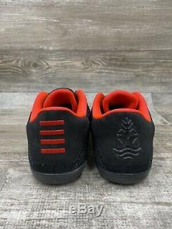 Nike Zoom KOBE XI 11 ELITE LOW Achilles Heel Black Red Gold Sz 11 822675-670