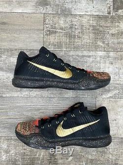 Nike Zoom Kobe Elite 10 X Low Xmas Christmas 14 Black Red Gold Green 802560-076
