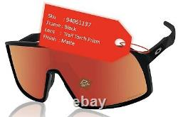 Oakley Sutro sunglasses matte black frame Trail Torch Prizm lens OO9406