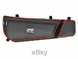 PRP Black / Red Vinyl Stock Door Bag Knee Pads PAIR Can Am Maverick X3