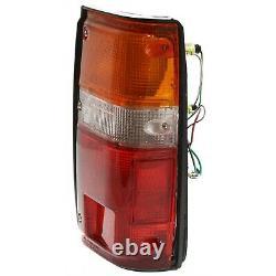 Pair Tail Light for 84-88 Toyota Pickup & 84-89 4Runner Left & Right Black Trim