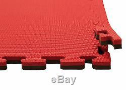 Promat Jigsaw Mats Black/Red 20mm Standard Finish (T Shape)