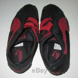 Puma Mostro Ripstop Mens 9.5 Black Red Trainer New Old Stock! 341788