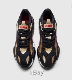 Puma RS-X 3 Super Black-Red-Gold Men's Trainers All Sizes Limited Stock