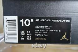 Retro Jordan 1 Low OG BRED 2015 Black/Red Last Dance Size 10.5 705329-001