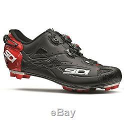 SIDI Tiger MTB Mountain Bike Shoes Matte Black/Red Size 46 EU