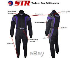 STR Race Suits ORCI Approved 3.2A/1 Oval Stock Car Autograss Spedeworth F2 F1