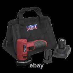 Sealey 12v Battery Mini Angle Grinder Kit Cordless Grinder Ø76mm 2 Batteries