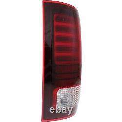 Set of 2 LED Tail Light For 2013-2016 Ram 1500 Sport LH & RH Black Interior