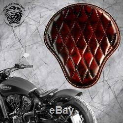 Solo seat Indian Scout since`17+mounting kit+springs Std black&red V3 M