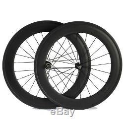 Standard Carbon Wheelset 88mm Depth Clincher Rims Carbon Fiber Wheelsets 700C