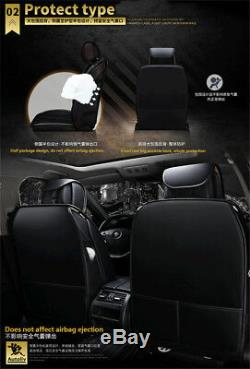 Standard Edition Car Front+Rear Full Surrounded Seat Cover Set Black&Red Leather