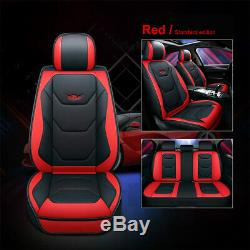 Standard Edition PU Leather Car Seat Cushion Cover 5 Seats Full Set Front+Rear