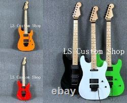 Standard Neck ST Electric Guitar Floyd Rose Bridge Maple Neck Black Hardware