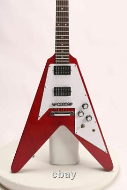 Starshine Flying V Standard Electric Guitar Red Color Mahogany Free Shipping