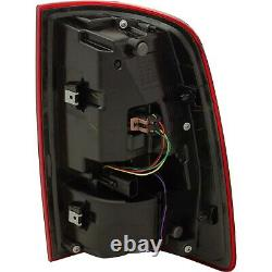 Tail Light For 2013-18 Ram 1500 Left LED Black Interior Clear & Red withBulb CAPA