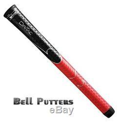 Twenty (20) Winn AVS Dri-Tac Black/Red Standard Golf Grips-Mens Grip-5DT-BRD 48g