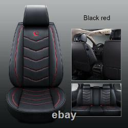 Universal Auto Car SUV Standard 5-Seat PU Leather Seat Covers Cushion Front+Rear