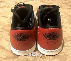 VNDS Retro Jordan 1 Low OG BRED 2015 Black/Red Last Dance Size 10.5 705329-001