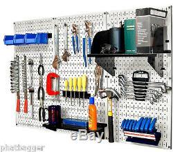 Wall Control Standard Metal Tool Storage Pegboard Kit