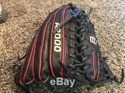 Wilson A2000 OT6 Pro Stock 12.75 Trapeze Baseball Glove LHT Black/Red