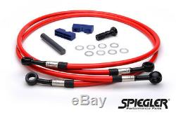 Yamaha Yzf-r1 2009-2011 Spiegler Front And Rear Brake Line Kit