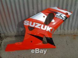 01 Suzuki Gsxr-750 Gsxr 750 Stock Carénage Droit Rouge, Argent Et Noir 00 02 03