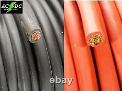 1/0 Awg Soudage Câble De Batterie Fil Rouge Noir Sae J1127 Copper Car Solar Leads