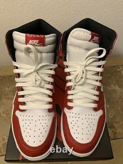 100% Authentique Nike Air Jordan 1 Retro High Og Chicago (2015) Taille 12 555088-101